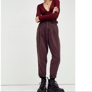 Free People Margate Pleated Trouser Drawstring